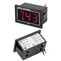 防水電圧計、1個のデジタル0.56″ LEDディスプレイ高精度DC防水電圧計(red, DC5-130V)