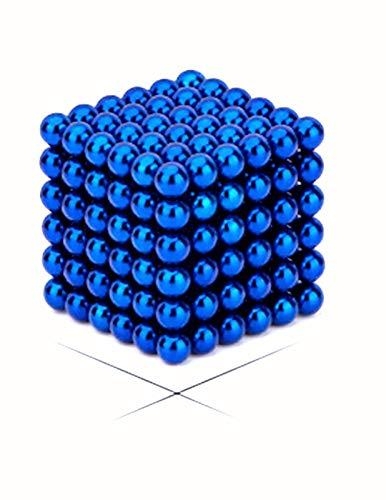 Mallefe 3 MM 216 PCS Rare Earth M-agnetic Desktop Toys Coolest Gadget Imagination Development and Stress Relief Handicrafts (Dark Blue)