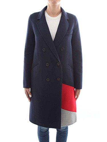Tommy Hilfiger Damen Carmen DF CLR Block Wool Coat Mantel, Grau (Grey Htr/True Red/Midnight 901), 10