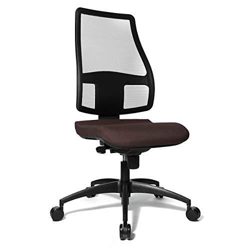 Bandscheiben|Drehstuhl | Rückenlehne mit atmungsaktiver Netzbespannung | Dunkelbraun - Bandscheibendrehstuhl Bandscheibendrehstühle Bürodrehstuhl Bürodrehstühle Bürostuhl Bürostühle Drehstuhl Drehstühle Schreibtischstuhl Schreibtischstühle Universalstuhl