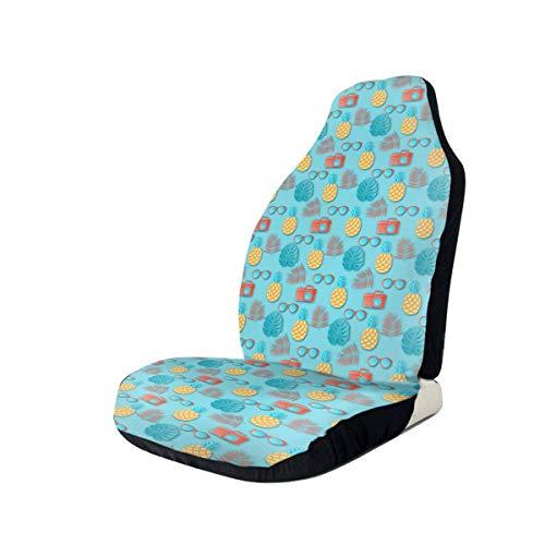 GOSMAO Gafas de sol para cámara y piñas de frutas exóticas Funda de asiento de coche impermeable de ajuste universal Fundas de asiento de coche clásicas Lavable Fácil ajuste