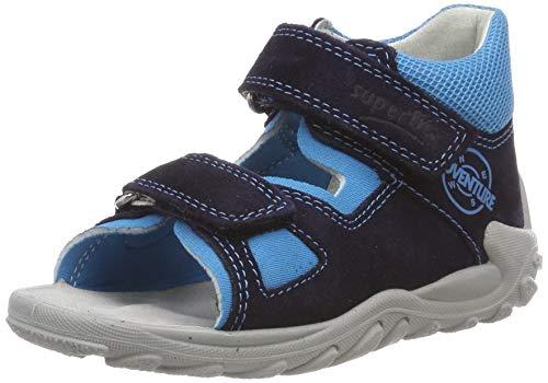 Superfit Baby Jungen Flow  Lauflernschuhe Sandalen,  Blau (Blau 81),  23 EU