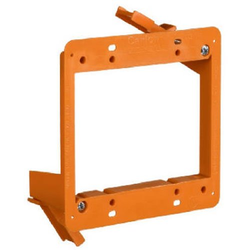Carlon SC200RR Outlet Box Low Voltage Bracket, Backless, 2 Gang, 4-Inch Length by 3.92-Inch Width, Orange