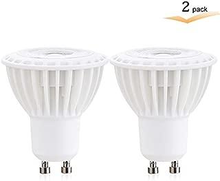 3Watt Dimmable GU10 LED Light Bulb, 2700K Warm White COB led light 25W Halogen Bulb Equivalent, 300 Lumens, 38 Degree Beam Angle, Perfect Standard Size, Recessed Lighting, Track Lighting(Pack of 2)