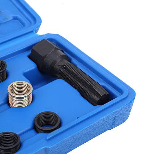 Reenhebrado de bujías, reparación de roscas M14x1.25 de alta resistencia, herramienta de restauración de roscas fácil de operar, para servicio de reparaciones