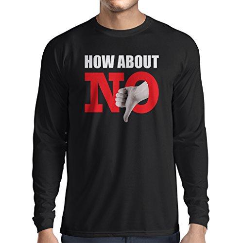 lepni.me Camiseta de Manga Larga para Hombre Qu Tal NO - No me molestes Eslogan Gracioso (X-Large Negro Multicolor)