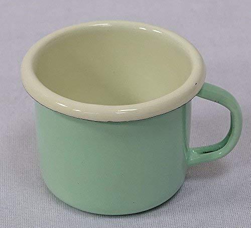 Emaille Espressotasse, Moccatasse, Schnapsbecher, Pastell Mint 5 cm