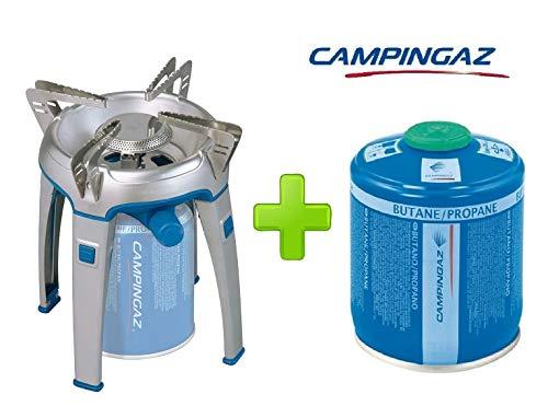 ALTIGASI Réchaud à gaz Bivouac Campingaz Puissance 2600 W avec Sac de Transport - Système de Cartouche Amovible + 1 Cartouche à gaz CV470 de 450 g