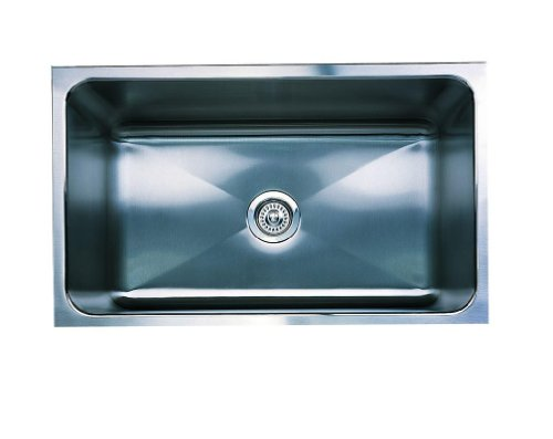 "Big Sale Best Cheap Deals Blanco 440300 Magnum Single Basin Stainless Steel Kitchen Sink with 12"" Depth 31 1/4"" x 18"", Stainless Steel"
