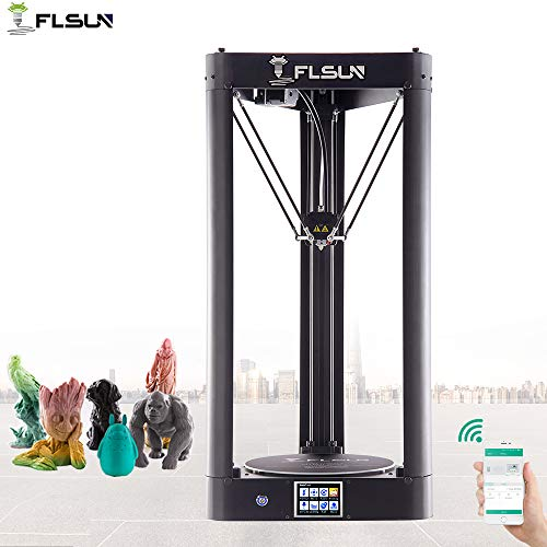 FLSUN QQ-S 90%Pre-assembled Delta 3d Printer Printing Size Φ255X360mm Lattice glass platform Auto Leveling Touch Screen WIFI Remote Control