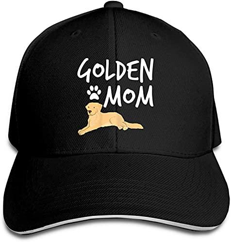 'N/A' SBLB Golden Retriever Mamá Gorra de béisbol ajustable clásica gorra de camionero unisex para papá, negro