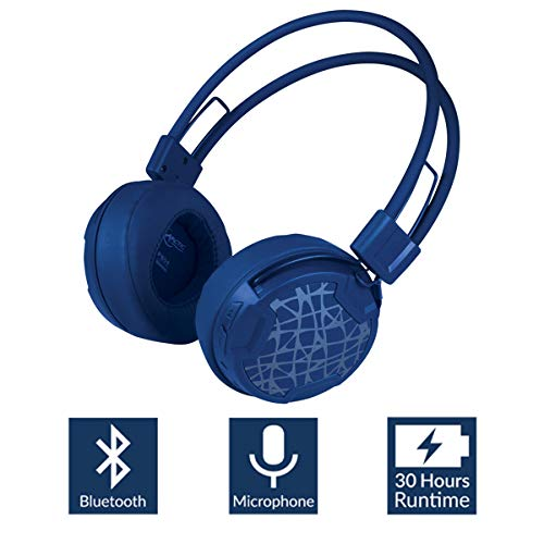 Arctic P604 Wireless (Blue), Dynamic Bluetooth 4.0 Headphones, On-Ear Design Smart Control Integrated Microphone, 30 Hours Battery Life