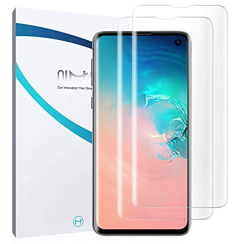 Preisvergleich Produktbild QiMai 3X Full Screen Cover Schutzfolie für Galaxy S10 Nano-TPU Displayschutzfolie Entsperren Hülle Panzerfolie Freundliche