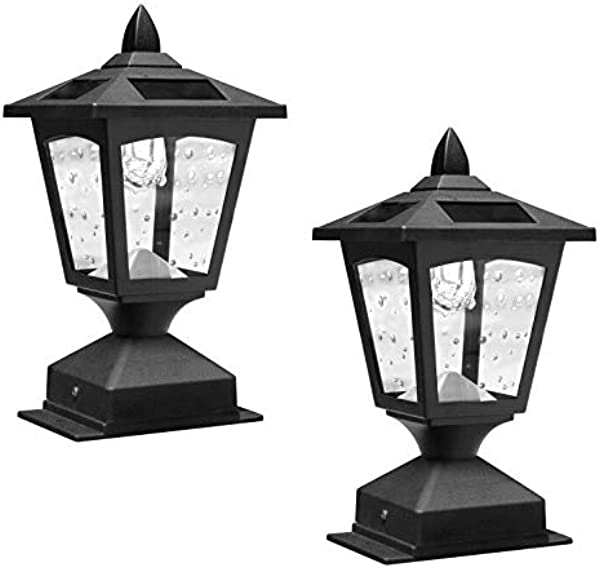 Pack Of 2 4 X 4 Solar Powered Post Cap Light Wood Fence Posts Pathway Deck Fence Light Pack 2