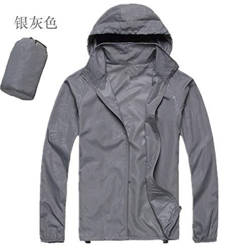 Yanshan Outdoor-Männer und Frauen Hautmantel der Haut Kleidung im Freien Kleidung dünn und leicht schnell trocknend Sonnenschutz Kleidung Arbeitskleidung Fischerei (Color : Light Grey, Size : M)