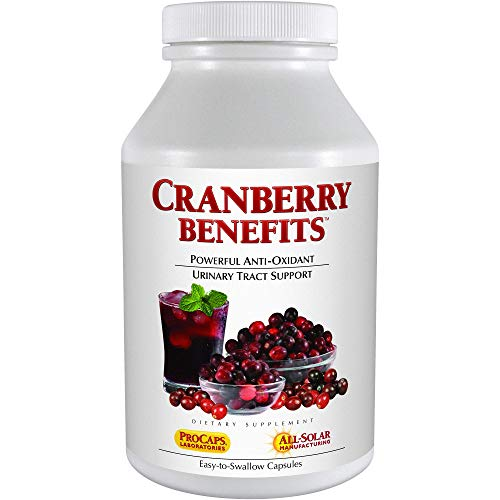 Andrew Lessman Cranberry Benefits 240 Capsules – Supports Bladder, Kidney and Urinary Tract Health. High Potency Standardized Concentrate of Cranberry Fruit, Small Easy to Swallow Capsules