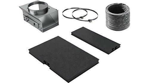 Bosch DWZ0AF0Ú0 Zubehör für Dunstabzüge / Standard Umluftset / für Umluftbetrieb / Aktivkohlefilter / Umluftweiche / flex. Schlauch / Befestigungsmaterial