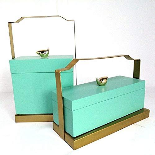 Caja de Madera de Joyas de artesanía con Asas casa Suave amueblar...
