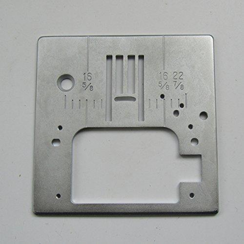KUNPENG - 2 piezas PLACA DE AGUJA ZIG ZAG # 051046 para SINGER 7256, 7258, 7422, 7424