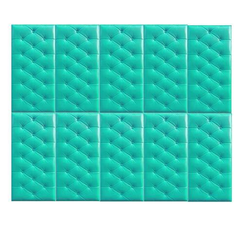 zanasta 10x Cojines de Pared, amortiguación, protección contra Golpes, Autoadhesivo Reductor de Ruido Turquesa
