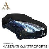AUTOABDECKUNG SCHWARZ KOMPATIBEL MIT Maserati QUATTROPORTE INNEN SCHUTZHÜLLE ABDECKPLANE SCHUTZDECKE VOLLGARAGE Cover