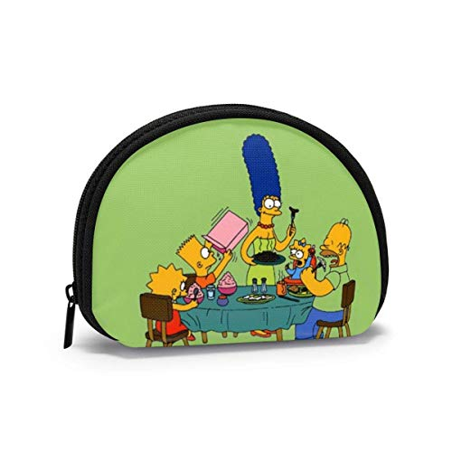 Anime Cartoon Simpsons Shell Shape Portable Bags Clutch Pouch Travel Waterproof Toiletry Bag Band Zipper for Ladies O