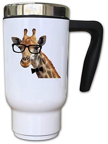 Iprints High Class Giraffe met glazen Thermal Thee Coffee Mok
