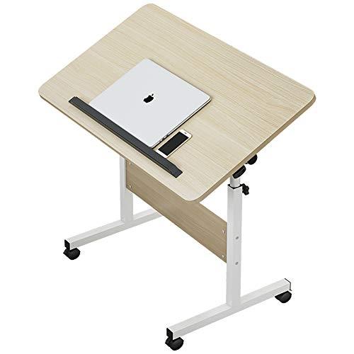 KAISIMYS Mesa Portátil Ordenador Ajustable con Ruedas, 65X60X40 cm Mesa Sofá Mesa de Escritorio para Cama O Sofá