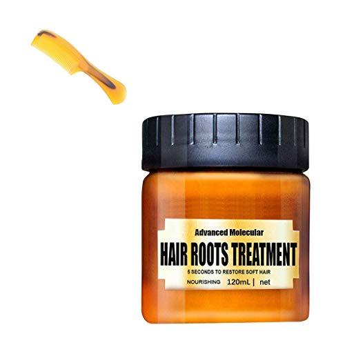 Bloodfin 120ML Récupérer Élasticité Cheveux Masque capillaire magique,Infusé avec des ingrédients botaniques naturels et de l'huile d'argan Masque capillaire Traitement (Noir)
