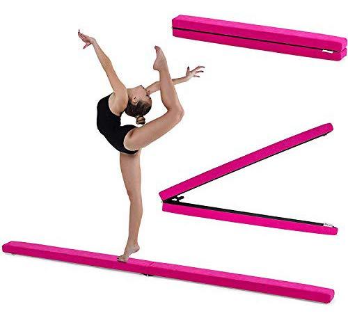 Fun!ture 7ft Folding Gymnastics Balance Beam   Faux Suede   Kids Fitness...