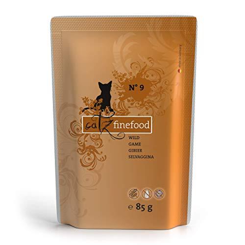 catz finefood N° 9 Wild Feinkost Katzenfutter nass, verfeinert mit Kartoffel & Preiselbeere, 8 x 85 g Beutel