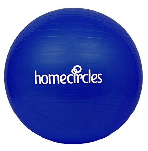 Home Circles Extra dicker Schwangerschaftsball, 65 cm – großer Yoga-Ball für Schwangerschaft und Arbeit – Griffsocken & PDF-Übungsball-Anleitung – Anti-Burst-Gymnastik-Ball