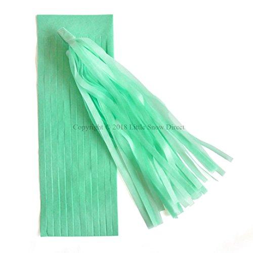 Little Snow Direct 5pcs Tassels Garland Tissue Paper Bunting Wedding Birthday Party Baby Shower - Mint