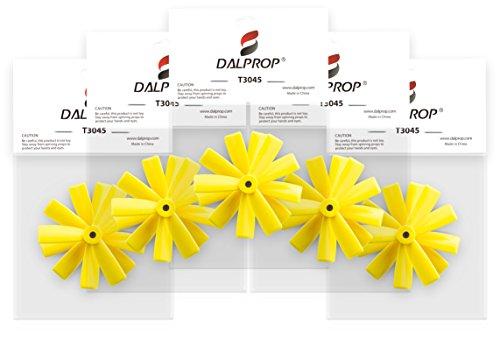 DALPROP Original Propeller - Triblade, Cyclone, Bullnose - Foxagon (T3045, Yellow)