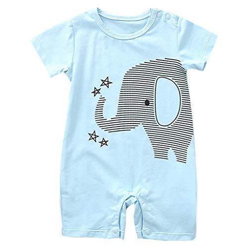 Bebé Pijama Niños Niñas Pelele de Algodón Body Manga Corta Verano Jumpsuit 6-9 Meses