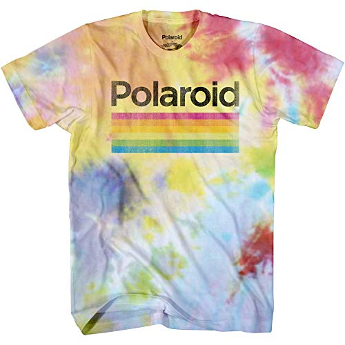 Polaroid Vintage Tie Dye T-shirt for Adult, S to 3XL