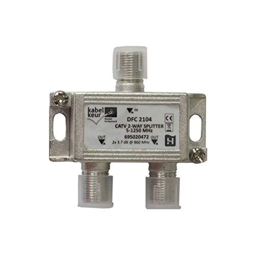 Hirschmann BK-Verteiler 3. 5 dB / 5 - 1250 MHz - 2 Ausgänge