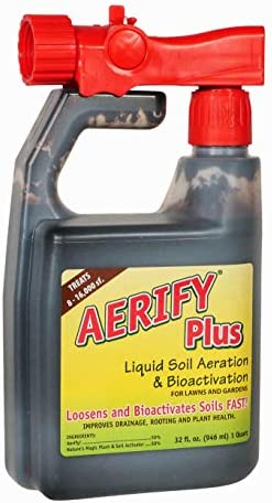 Nature's Lawn - Aerify Plus - Liquid Lawn Aerator, Aerating Soil Loosener & Conditioner, Non-Toxic, Pet-Safe 1 Quart with Hose-end Sprayer + Gallon Refill
