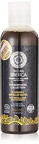 Natura Siberica Acqua Micellare Nera Viso, con Carbone Attivo, Detersione Quotidiana - 200 ml