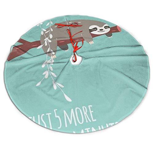 AEMAPE Falda de árbol de Navidad Lazy Sloths Falda de árbol de Navidad, Decoración de Fiesta Festiva de Año Nuevo, 91Cm (36In)