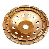 Copa hormigón Muela abrasiva doble fila 230mm Diamond Stone amoladora de pulido del disco, consumibles durable de la herramienta y accesorios