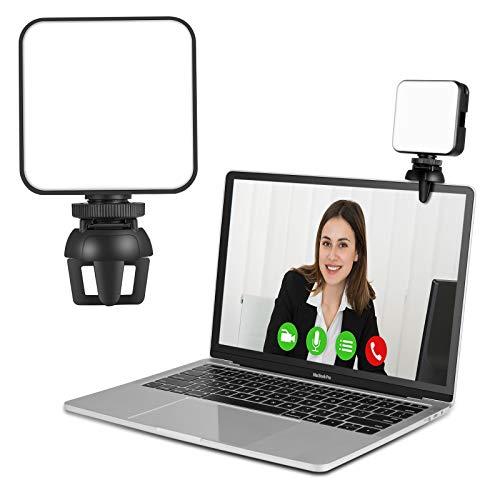 Videokonferenz Beleuchtung, CHANONE Video Licht mit abnehmbarem Clip für MacBook-Videokonferenzen für Laptops, Fernarbeit, Zoom-Besprechungsanrufe, Selbstübertragung, Live-Streaming