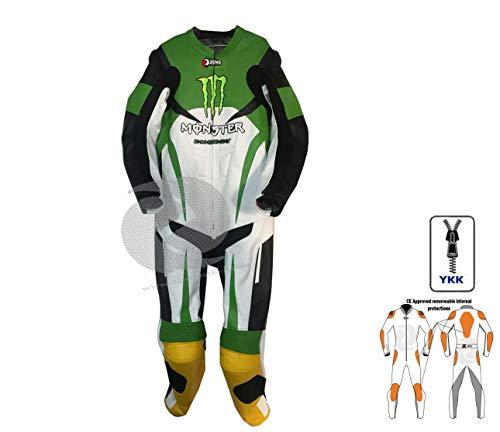 Motorrad-Motorrad ein Stück Lederanzug Rennen grün und gelb Geschwindigkeit Buckel Sommerschutz Getriebe zens Leder