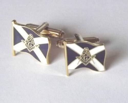"""Boutons De Manchette """"Maçonnique"""" Écosse avec blason Croix de saint André"""