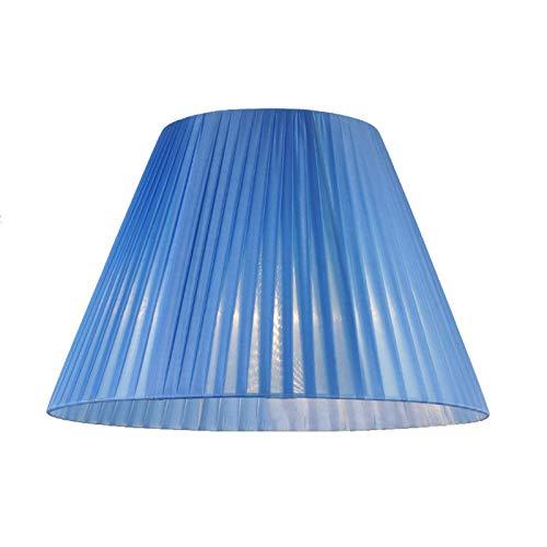 ADSE Plissee Stoff Lampenschirm, Augenschutz Tischlampe Lampenschirm mit Soft Light Transmission, Blauer Nachttisch Lampenschirm, 25CM