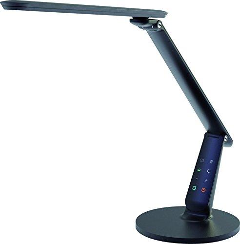 Aluminor Zig N LED Schreibtischlampe, Metall/ABS, integriert, 10W, schwarz