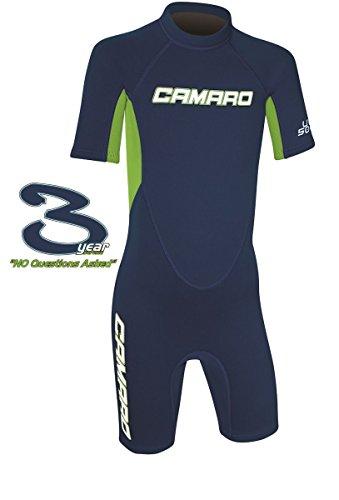 Camaro Flex Kinder Shorty Toddler Reactor Spring Neopren Neoprenanzug Schwimmanzug Blue