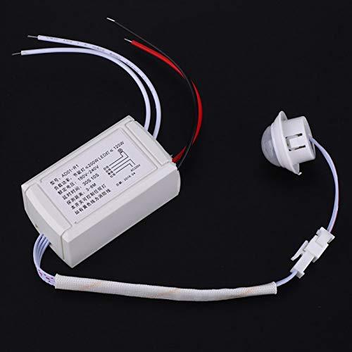 Interruptor de detección de infrarrojos de tamaño pequeño, sensor de movimiento por infrarrojos de acceso de emergencia AD01-R1 para bombilla de control de luz, lámpara LED 180V-240V