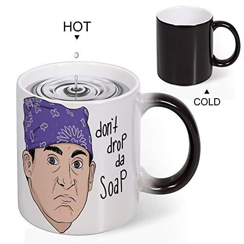 Magic mok warmte gevoelige gevangenis Mike, niet laten vallen de zeep grappige kleur veranderen koffie mok Cup 11 OZ