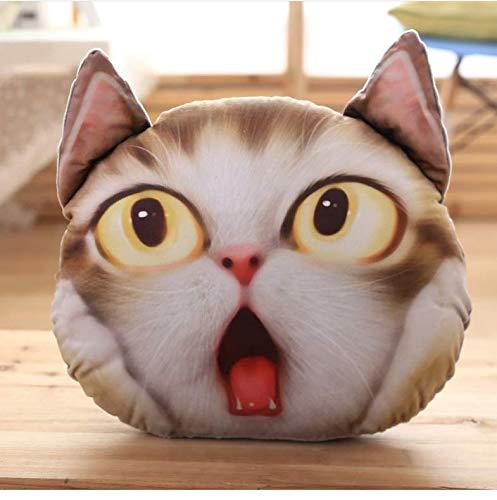N/T Kreative Cartoon Kawaii Kissen Simulation des Katzenkopf Kissen Kuscheltier Mode Plüschtier Für Mädchen 40 * 32Cm